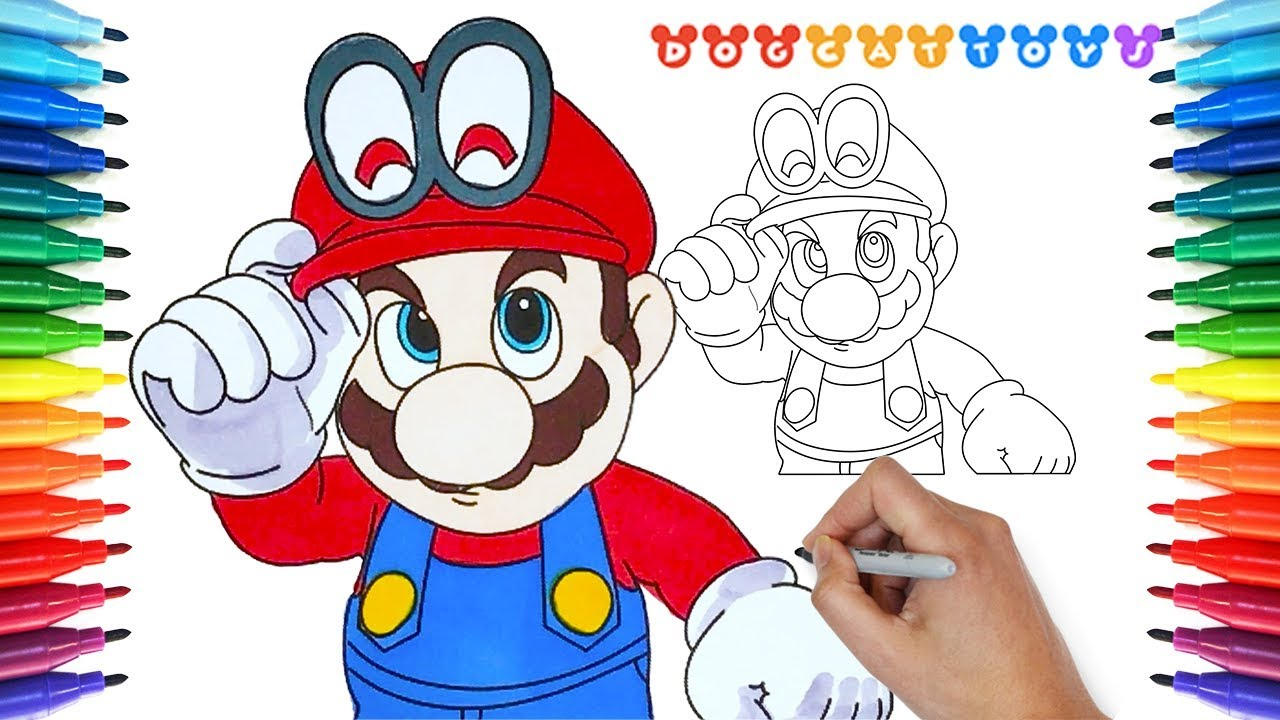 How to Draw Super Mario Odyssey Mario 159 Drawing