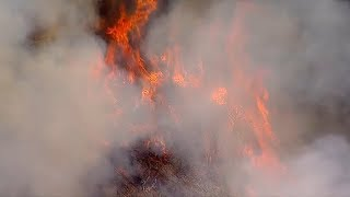 Firefighters battle brush fire near Pacific Palisades | ABC7