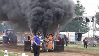 Tractor Pulling crash, wild rides 2018 part 2 by MrJo