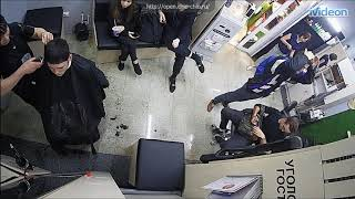 Salon Webcam - Cute trim on Bob and Hair Stylist Jumps in Chair