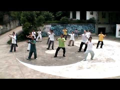 Chen Style Tai Chi 18 form performance by students at the school in Yangshuo