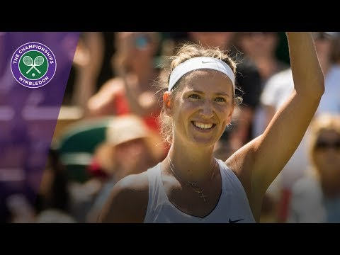 Wimbledon 2017 - Ball girl feeds to Victoria Azarenka