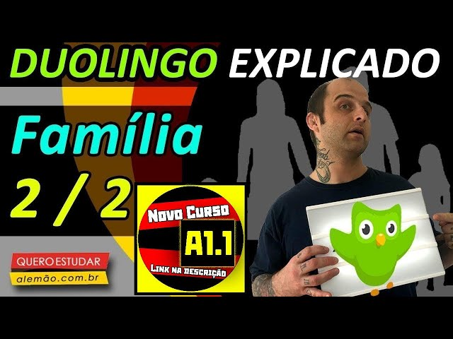#35 - Curso de alemão gratuito para iniciantes - Família 2/2 - Duolingo Explicado -