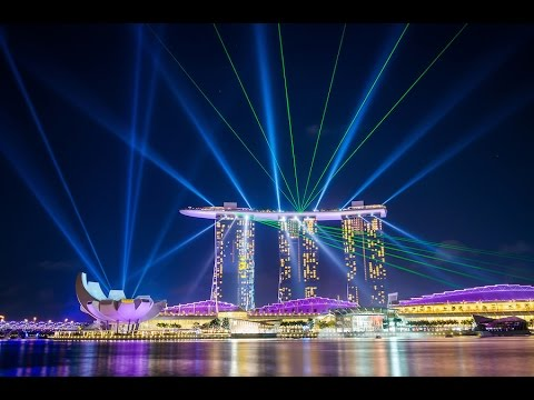 Marina Bay Sands / Wonder Full : light and water show マリーナベイサンズ シンガポール
