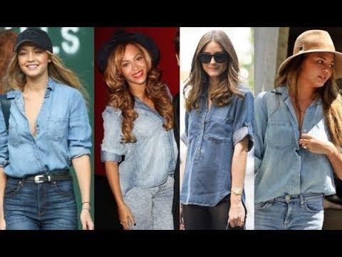 Denim Shirt Celebrity Style