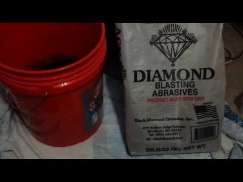 Black Diamond Blasting Sand.