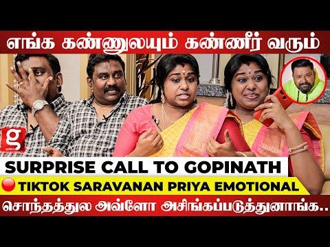 எங்களை வீட்டை விட்டு வெளிய அனுப்பிட்டாங்க.. - Saravanan Priya Emotional Interview | Tiktok
