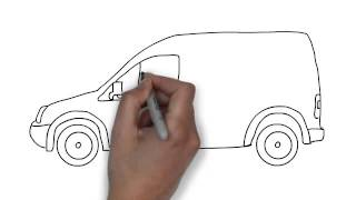 How To Draw White Van