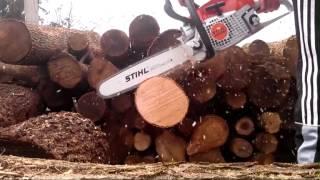 Видео как быстро пилит бензопила Stihl MS 291(купить бензопилу Stihl MS 291 можно тут http://st.shop-stroitel.ru/benzopila-stihl-ms-291., 2014-04-17T20:08:54.000Z)