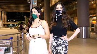 Sonnalli Seygall \u0026 Laxmi Rai Spotted At Airport Arrival