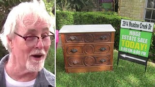 Man Who Buys A Dresser For $100 Finds A Secret Drawer With Something Astonishing Inside