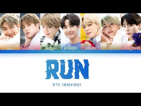 BTS (방탄소년단) - RUN [Color Coded Lyrics/Han/Rom/Eng/가사]