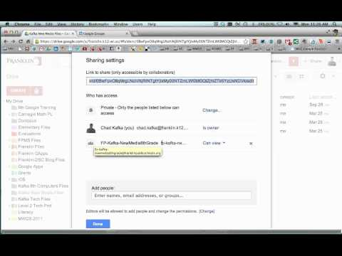 Google Drive - Sharing A Folder to A Google Group