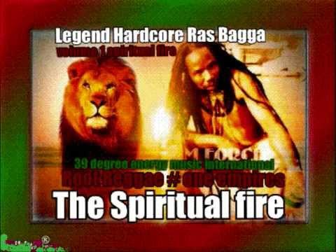 Hardcore Ras Bagga fire burning Reggae root music the album spiritual fire
