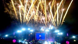 Tomorrowland Brasil 2015 (4K): Ending Fireworks ~ David Guetta - Titanium @ Main Stage