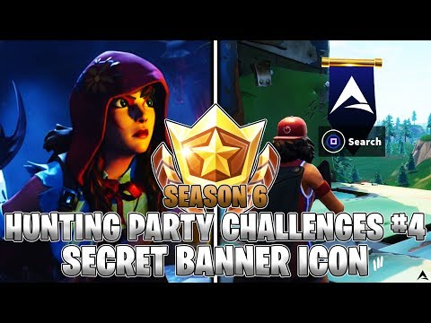 Secret Banner Icon Location Week 4 Hunting Party Challenges