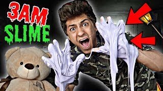 DO NOT MAKE FLUFFY SLIME AT 3AM!! *OMG SO CREEPY*