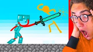 Reacting To THE ULTIMATE STICK FIGHT MINECRAFT ANIMATIONS!