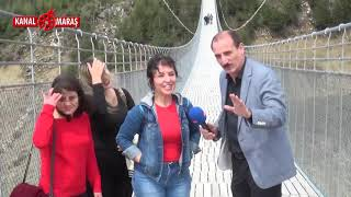 Andırın'ın ünlü asma köprüsü Kanal Maraş kameralarına böyle yansıdı
