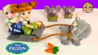 Princess Anna, Sven, 2 Trolls Mini Doll Disney Store Animators Collection Frozen Movie Doll Playset