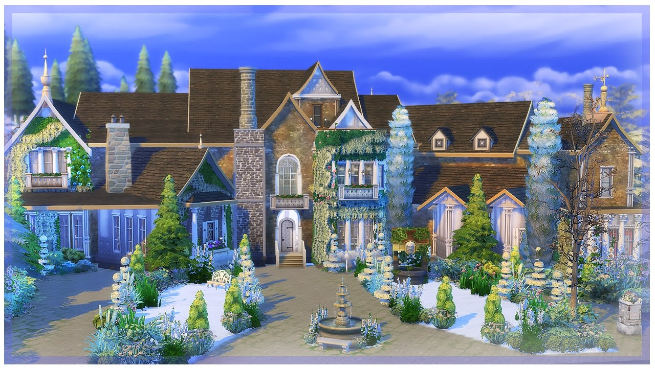 Building calliwell estate l the sims 4 youtube for Building an estate