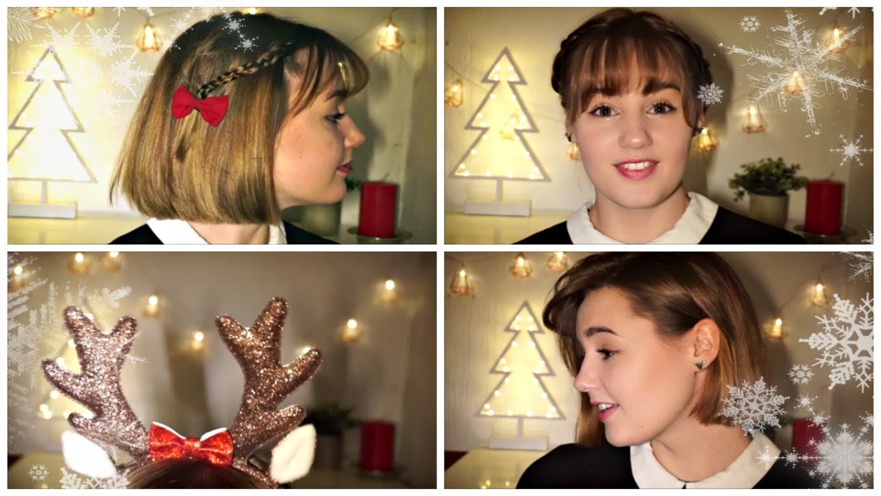 Christmas Hairstyles Short Hair.Festive Hairstyles For Christmas Short Hair