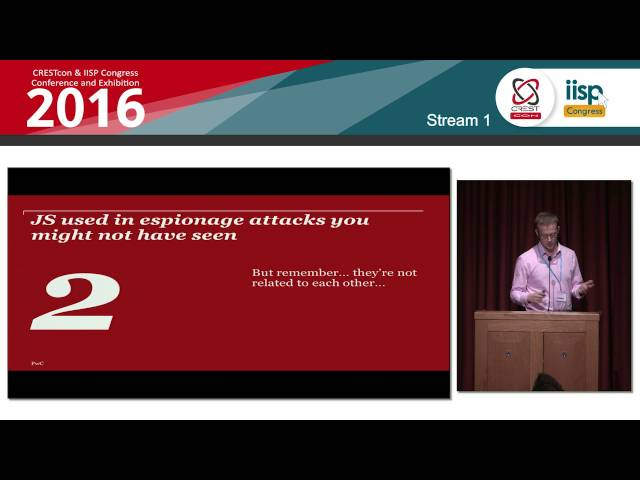 JavaScript in espionage intrusions  - Thomas Lancaster and Chris Doman, PwC: