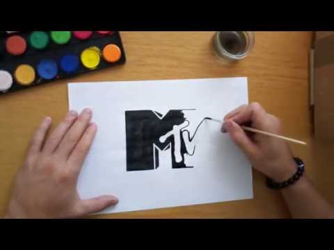 How to draw MTV logo