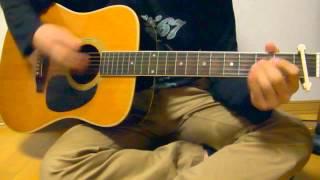 Whiteberryの夏祭りをギターで弾きました。 カポ1で弾いています。