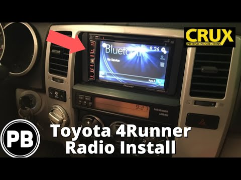 2003 - 2009 Toyota 4Runner Touch Screen Radio Install | Pioneer AVH-X2700BS