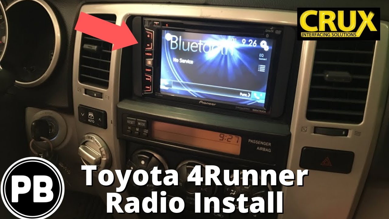 hight resolution of 2003 2009 toyota 4runner touch screen radio install pioneer avh x2700bs