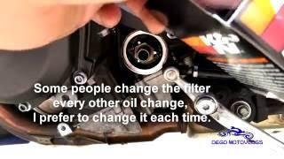 Yamaha R6 oil change tutorial 2008 2017 HD Updated 2016