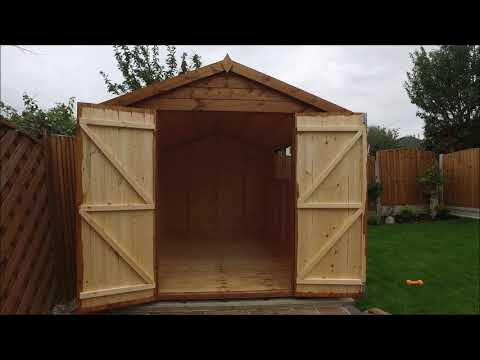 12 X 8 Apex Garden Shed With Double Doors