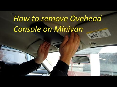 How to remove overhead console on Caravan Town and Country
