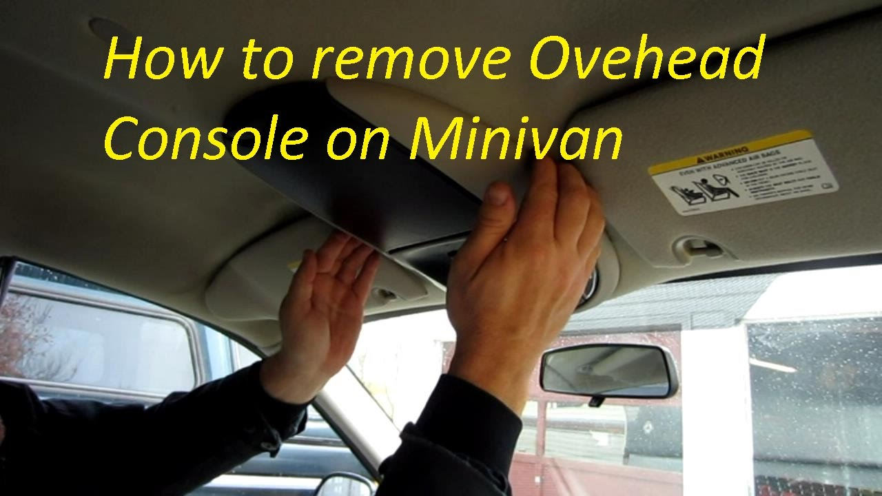 maxresdefault how to remove overhead console on caravan town and country youtube Aftermarket Overhead Console at bayanpartner.co