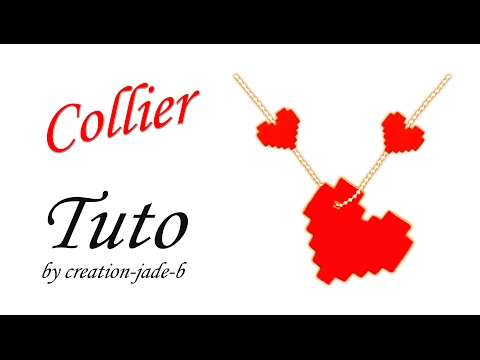 Diy Saint Valentin Collier Cœur Pixel Art Youtube