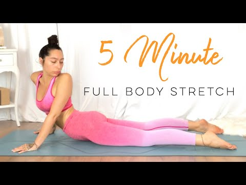 5 Minute Yoga ( FULL BODY STRETCH ) 30 Days Of Yoga