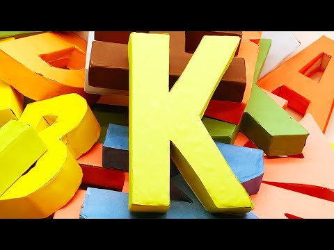 Origami Alphabet Letters 'K' Making by Paper | 3D Letter DIY | 5 Minutes Crafts & Toys