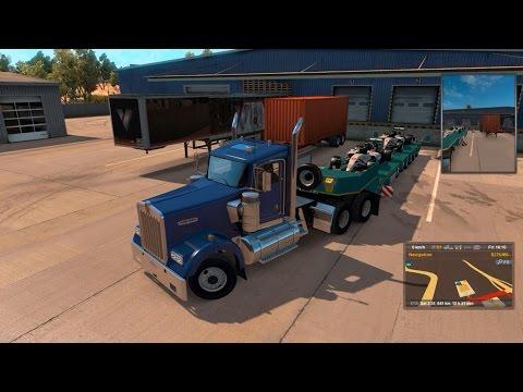 Transporting Mercedes F1 cars!! (American Truck simulator)
