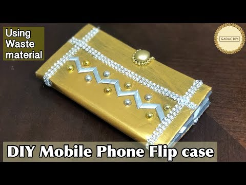 DIY Cell Phone Flip Case | Phone Case Using Waste Materials | No Sew And Easy