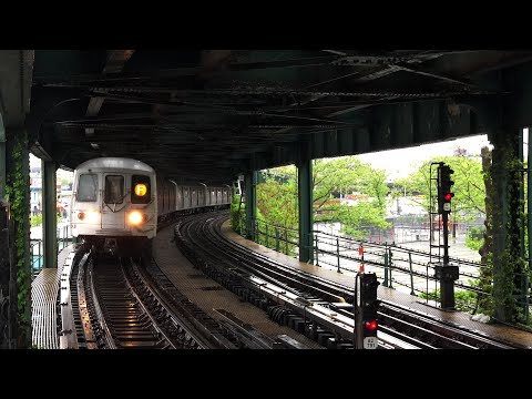 NYC Subway | R160 & R46 (F) Trains @ West 8th St - NY Aquarium