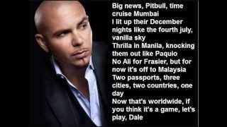 Pitbull Ft. Shakira - Get it started (with lyrics)