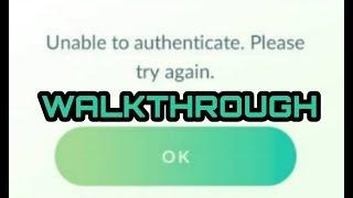 Pokemon Go Unable to Authenticate walkthrough