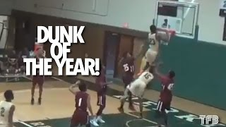DUNK OF THE YEAR?! Tyquan Scott INSANE CHIN OVER THE RIM DUNK - Herkimer College #SCTop10