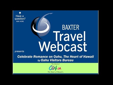 Travel Webcast - Romance in the Heart of Hawaii (11/29/2016)
