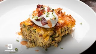 Keto Buffalo Jalapeño Popper Casserole | Fuel & Gainz by Fit Men Cook