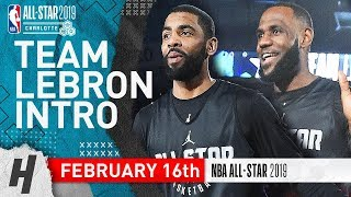 Team LeBron 2019 NBA All-Star Practice Introductio...