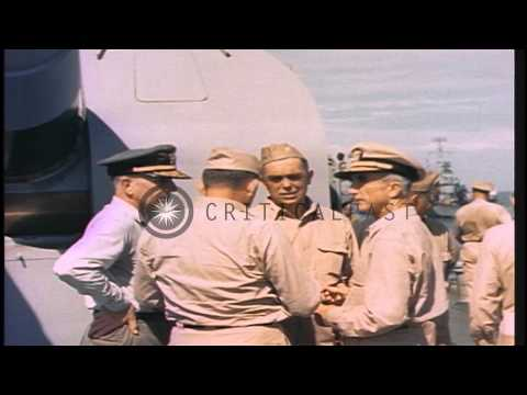 The scuttling of the USS Gamble, July 16, 1945, Apra Harbor, Guam, near end of Wo...HD Stock Footage