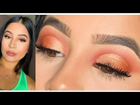 neutral soft glam makeup tutorial using the morphe 3502