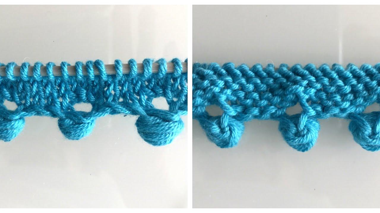Şiş Örgüsünde Fıstıklı Başlama — Knitting Pattern